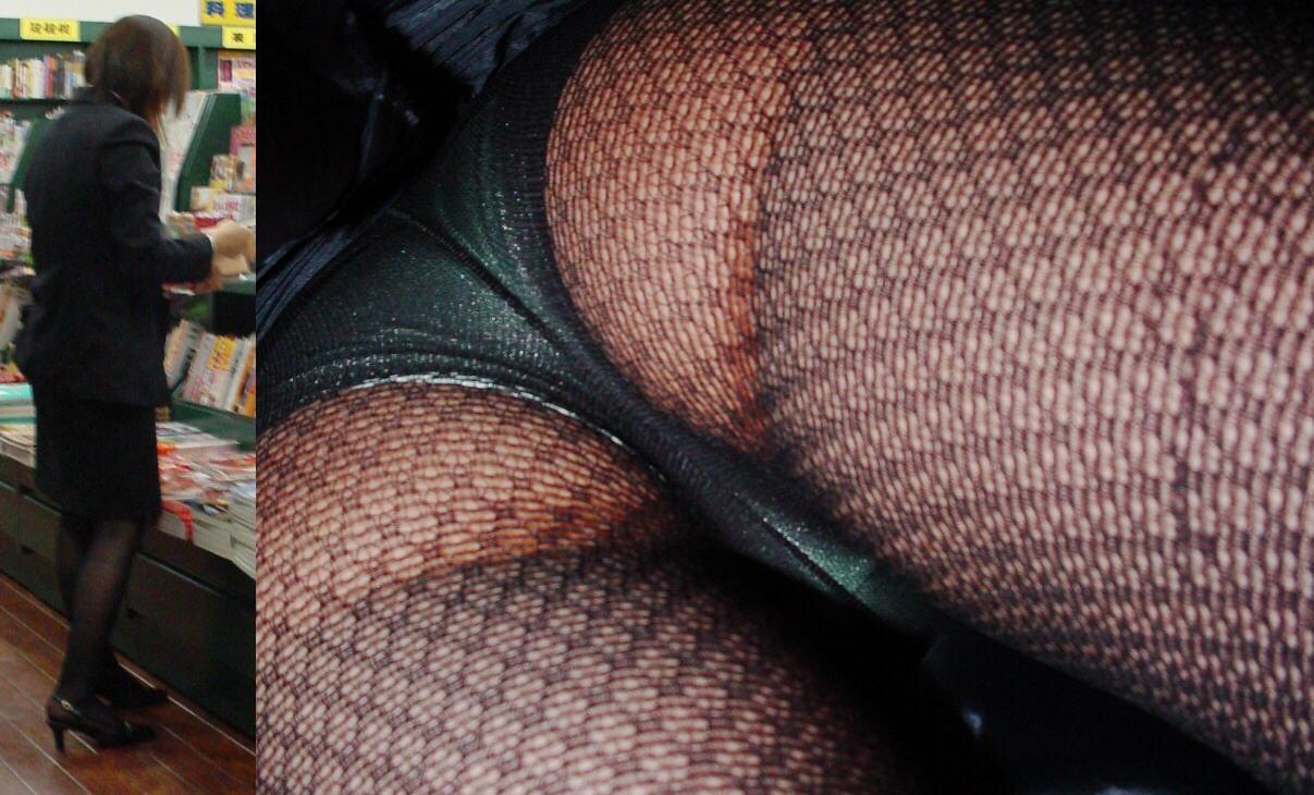 【パンチラエロ画像】下着と一緒に雌の香りもその中に…パンスト逆さ撮りwww 05