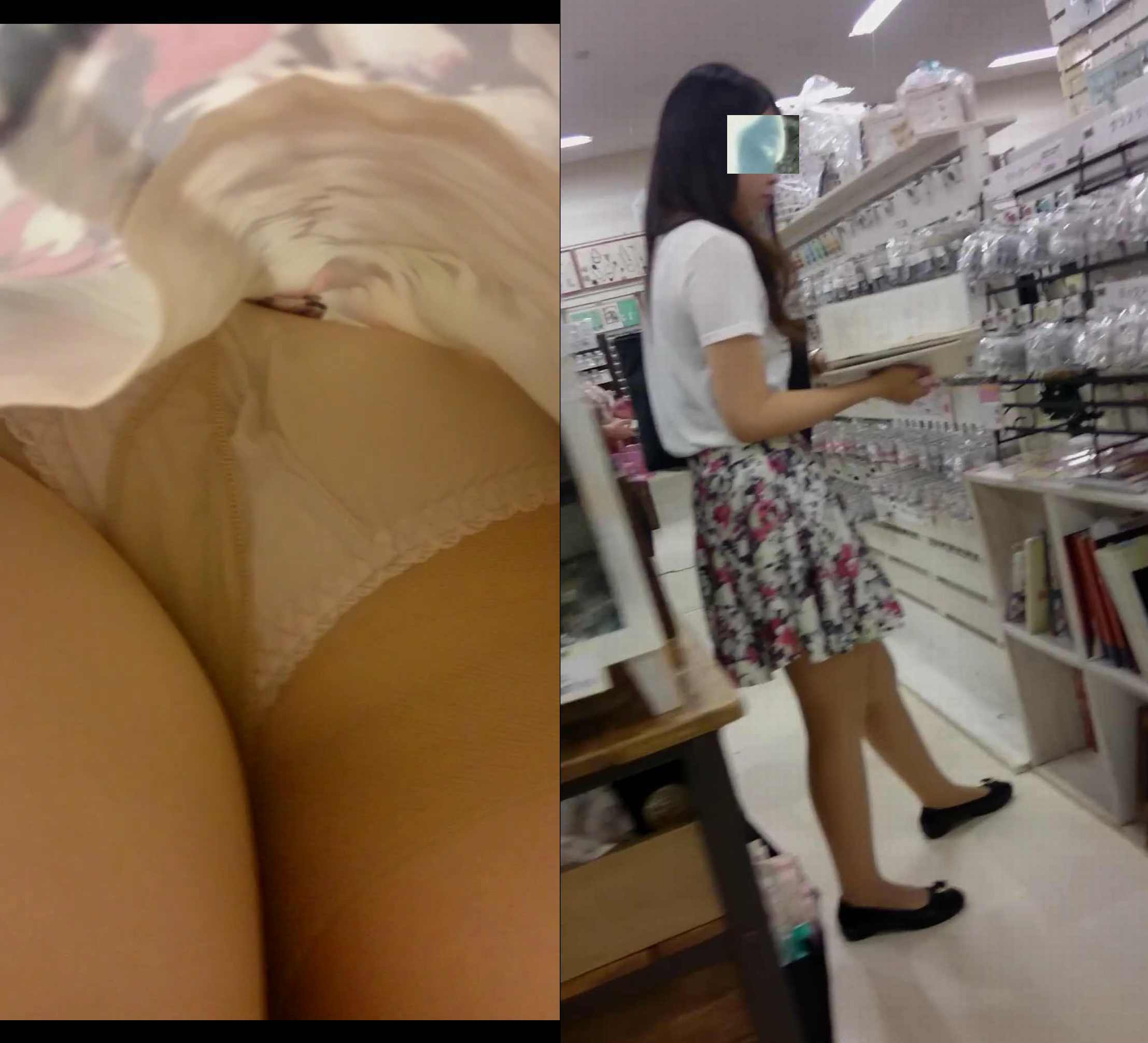 【パンチラエロ画像】下着と一緒に雌の香りもその中に…パンスト逆さ撮りwww 06
