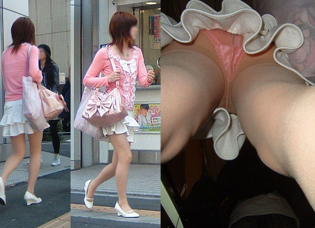 【パンチラエロ画像】下着と一緒に雌の香りもその中に…パンスト逆さ撮りwww 09