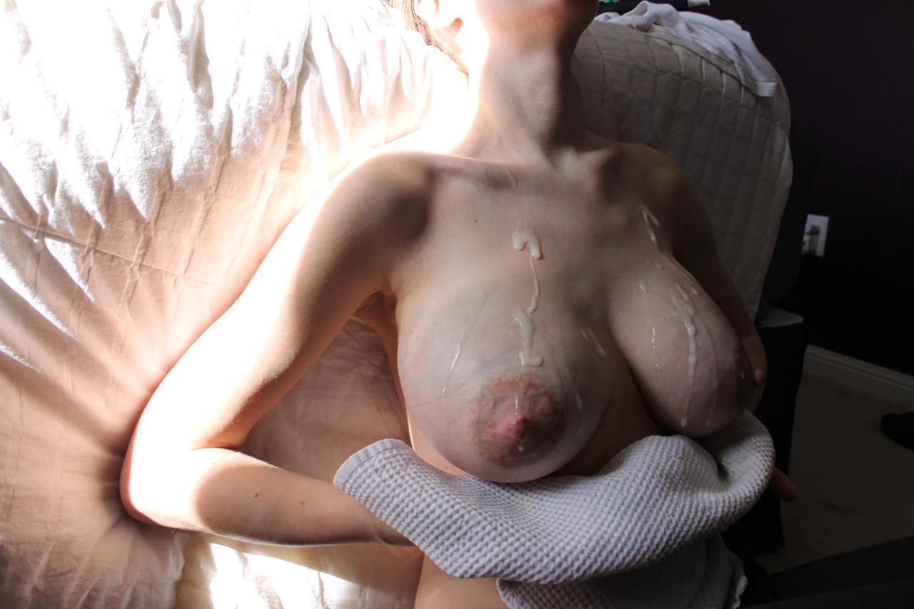 【ぶっかけエロ画像】女の象徴を欲望のままに穢す!生乳ぶっかけwww 02