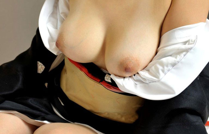 【和服エロ画像】脱がすの面倒だから奥ゆかしい着物美人の裸体晒しwww 001