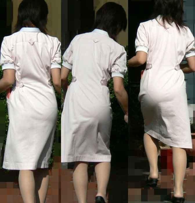 【ナースエロ画像】露出控えめでもうっすらイヤらしい白衣とパンチラwww 04