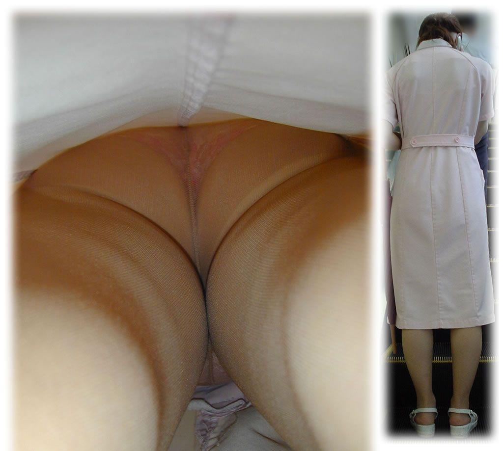 【ナースエロ画像】露出控えめでもうっすらイヤらしい白衣とパンチラwww 14
