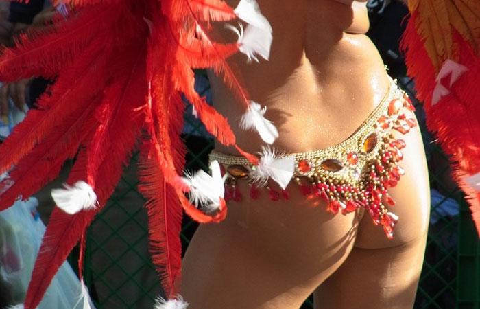 【サンバエロ画像】国内でも半裸にTバックで踊る情熱的カーニバル美女www 001