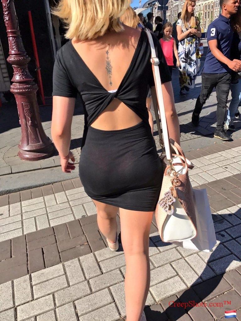 【着尻エロ画像】むしろ着ている事で形大きさが際立ったと言える街の着尻観察www 09