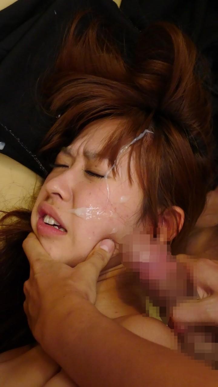 【顔射エロ画像】ぶっかける前に許可は必要wネバネバザー汁に覆われた美顔www 15