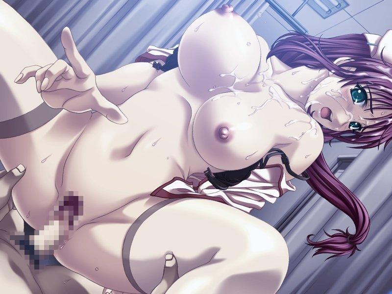 【二次エロ画像】スカート短すぎw乳もすぐ出る淫乱ナースたちの痴態www 14