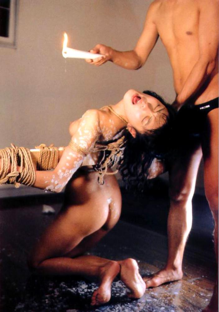 【SMエロ画像】目も覚める絶妙な熱さ!蝋でネチネチ責められるM女の皆さんwww 14