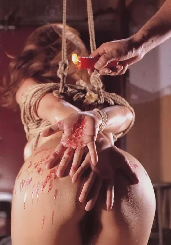 【SMエロ画像】目も覚める絶妙な熱さ!蝋でネチネチ責められるM女の皆さんwww 15