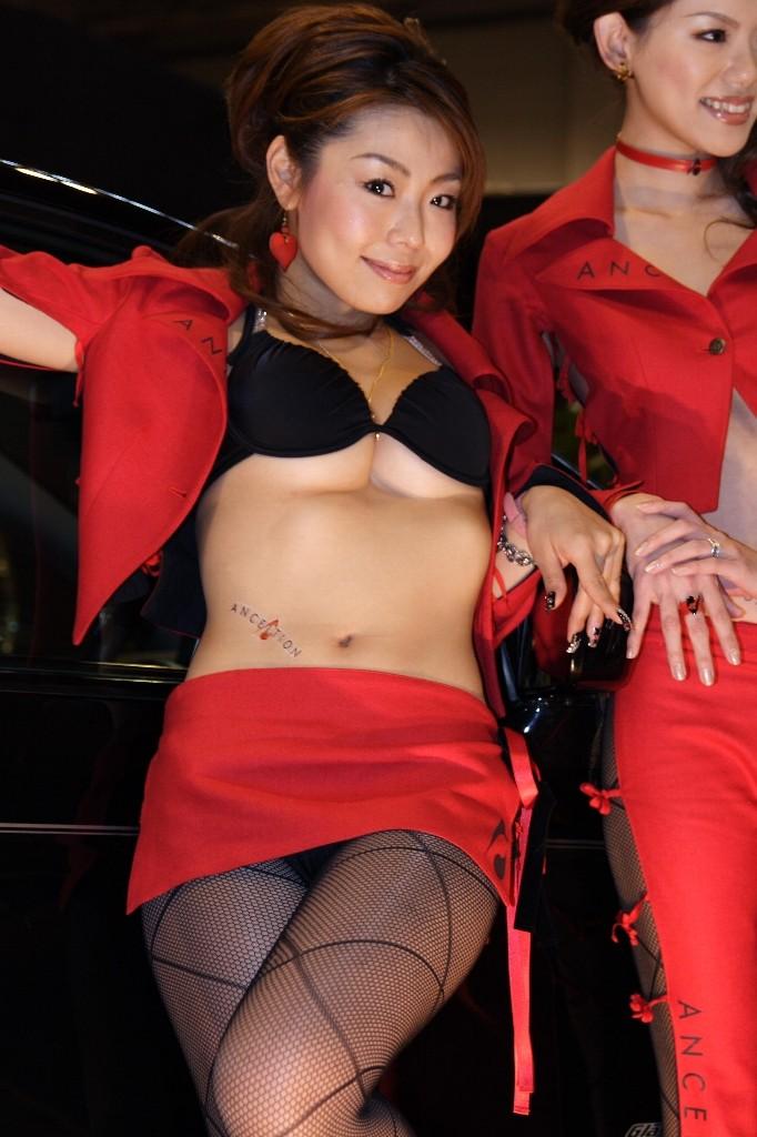 【キャンギャルエロ画像】デカいイベント内のキャンギャルは巨乳率高くてもうね…www 08