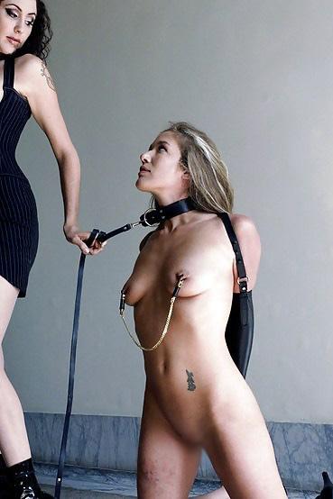 【調教エロ画像】貴女はペット!首輪に繋がれ四つん這いで従うM女たちwww 14