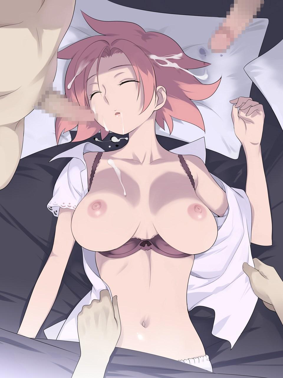 【二次エロ画像】眠りが深すぎ!ナニされても起きない爆睡中の美少女たちwww 02