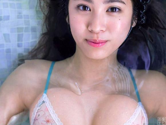 超大型新人アイドル澤北るな(18)の豊か過ぎる胸。