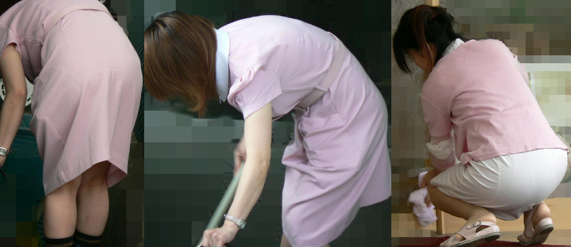 【ナースエロ画像】鉄壁の白衣でもなかったりする看護師たちの下着透けwww 03