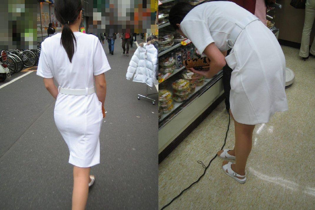 【ナースエロ画像】鉄壁の白衣でもなかったりする看護師たちの下着透けwww 07