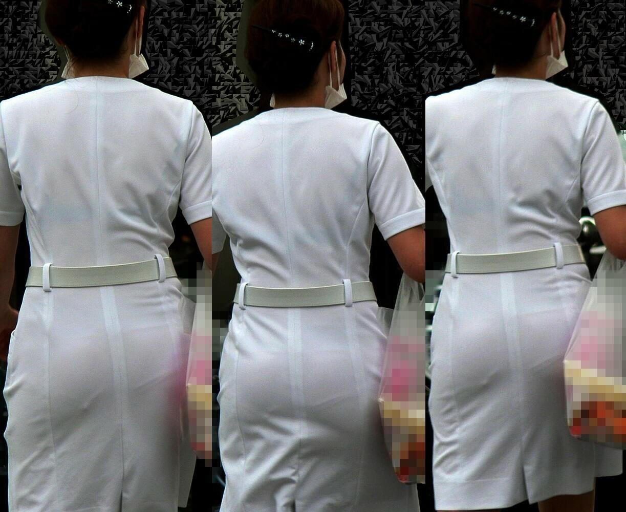 【ナースエロ画像】鉄壁の白衣でもなかったりする看護師たちの下着透けwww 08