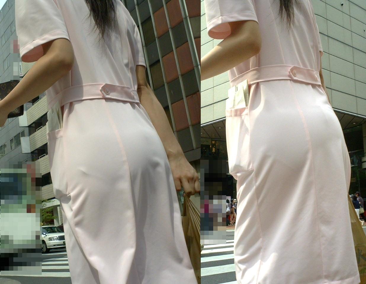【ナースエロ画像】鉄壁の白衣でもなかったりする看護師たちの下着透けwww 09