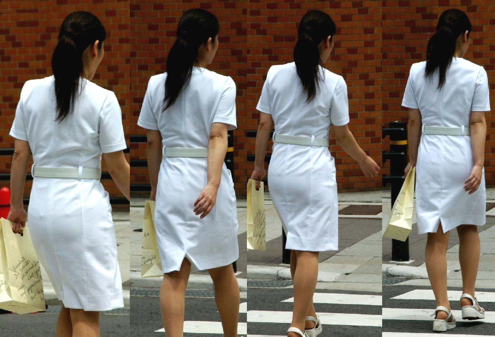 【ナースエロ画像】鉄壁の白衣でもなかったりする看護師たちの下着透けwww 11