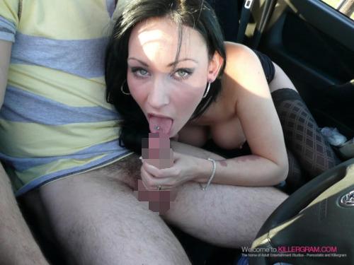 【フェラチオエロ画像】男に肉製ギアを咥える!運転中はご遠慮頼みます車内フェラwww 04