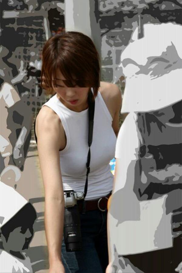 【着胸エロ画像】ぶつかって来てくれるのは歓迎w触れて欲しい着衣巨乳www 08