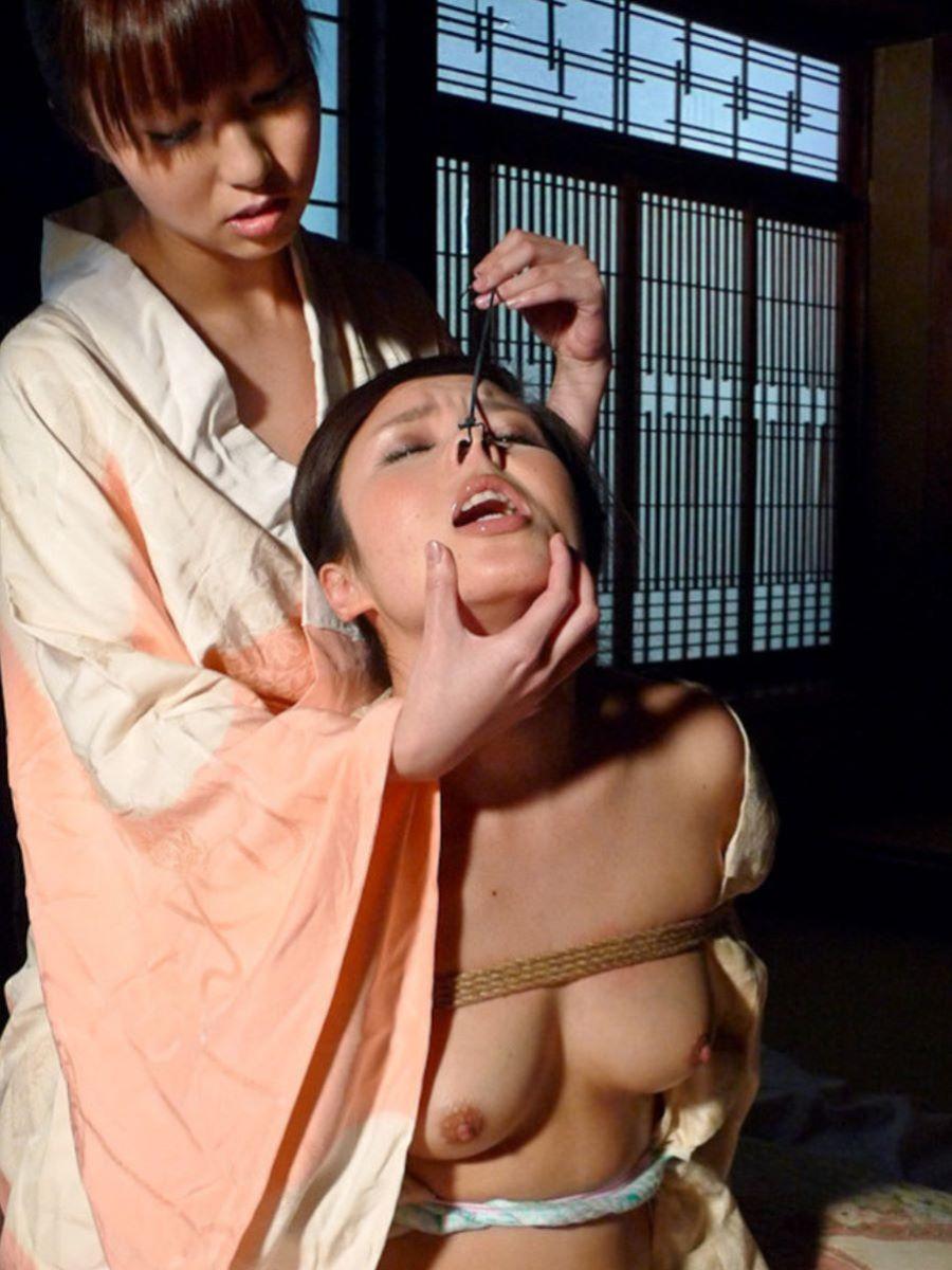 【SMエロ画像】カメラ大写しも更に恥辱!鼻フックで顔面拷問www 14