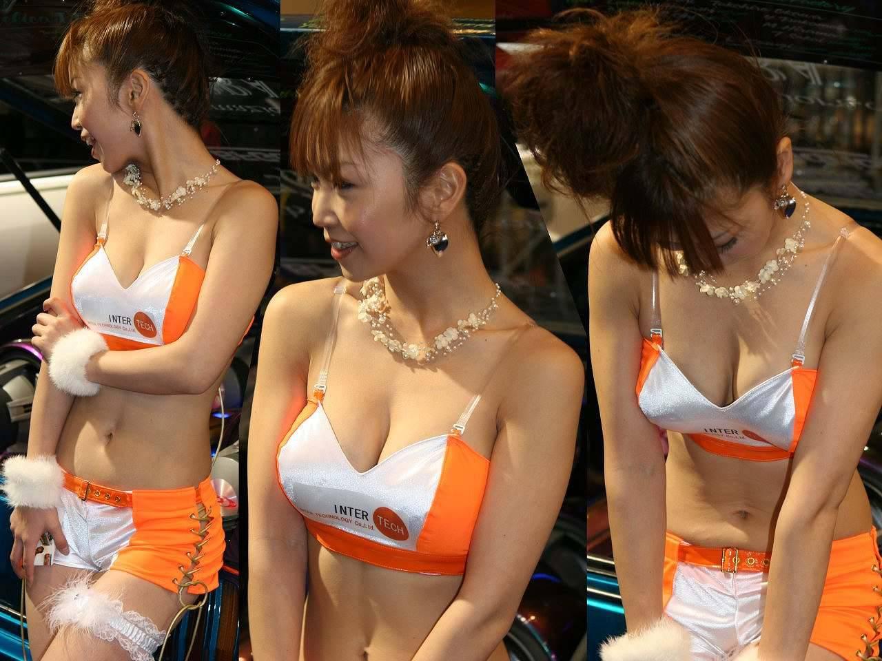 【キャンギャルエロ画像】この乳を見に来た!おっぱい目立ったキャンギャル達www 15