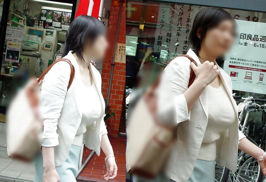 【着胸エロ画像】ニットは特に注目!冬でも絶対にいる着衣巨乳の方々www 12