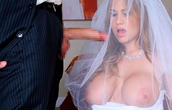 【海外エロ画像】相手は新郎ではないらしいw花嫁衣裳でやらかす新婦たちwww 001