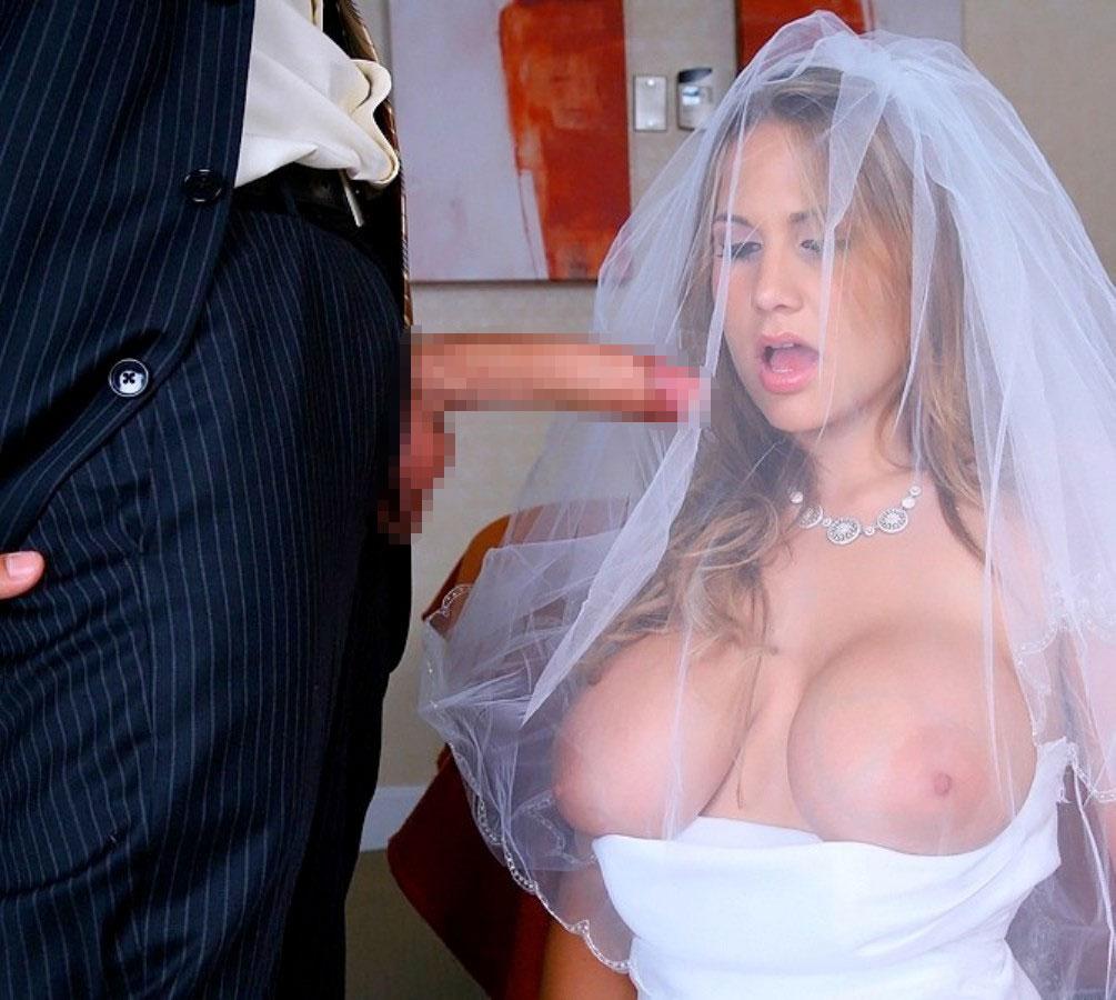 【海外エロ画像】相手は新郎ではないらしいw花嫁衣裳でやらかす新婦たちwww 01
