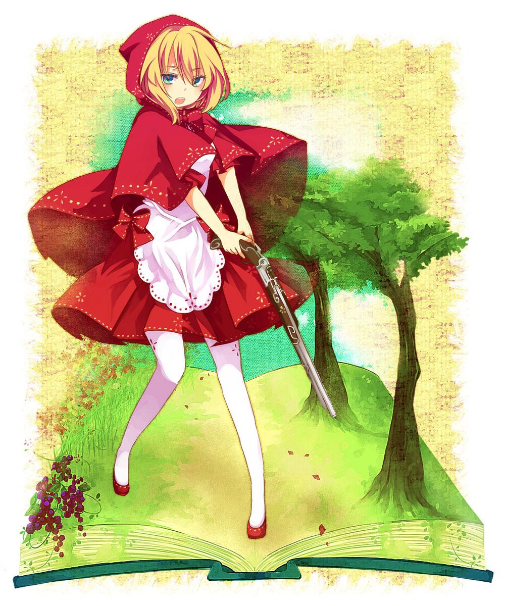 【赤ずきんエロ画像】赤ずきんちゃんになるとどのキャラも胸キュン美少女になる不思議www 11