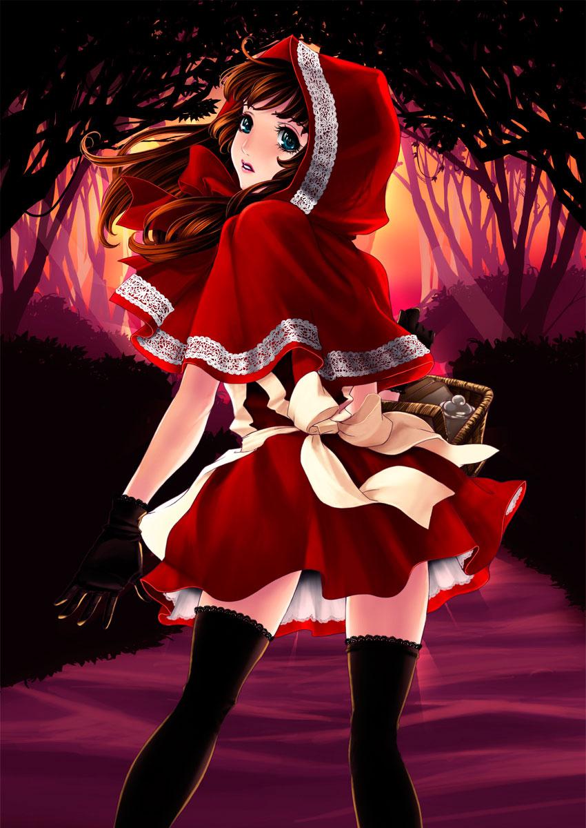 【赤ずきんエロ画像】赤ずきんちゃんになるとどのキャラも胸キュン美少女になる不思議www 26