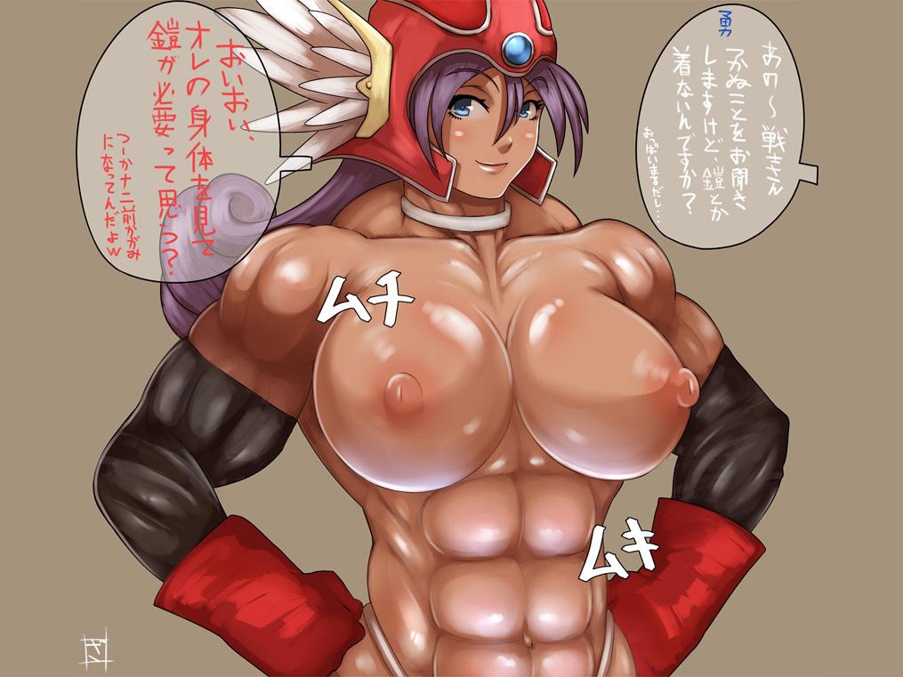 【マッチョエロ画像】腹筋バッキバキに割れたガチムチな戦士系のイラストまとめ! 42