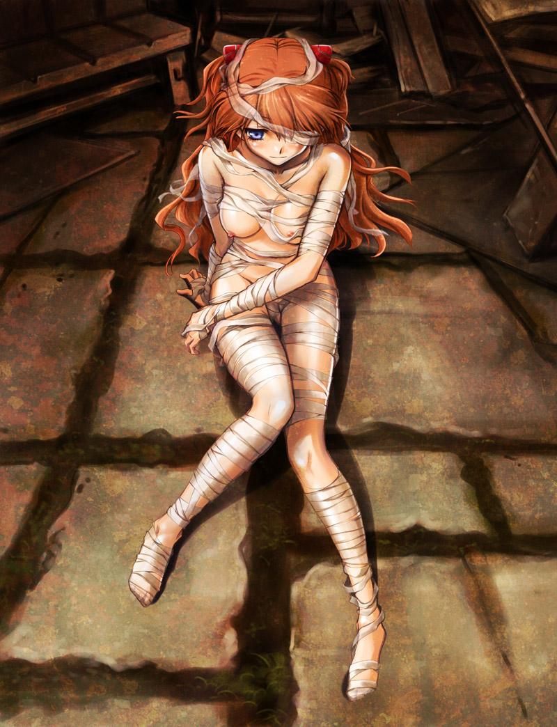 【包帯娘エロ画像】痛々しくはないけど、別の意味で痛々しくはあり、それが可愛い包帯娘イラスト集!