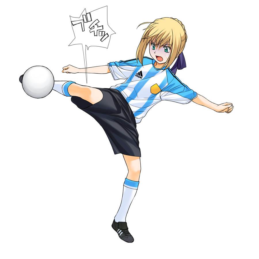 【サッカーエロ画像】日本代表を応援するリアル女子には苦笑いしちゃうけど二次元女子には興奮する! 05