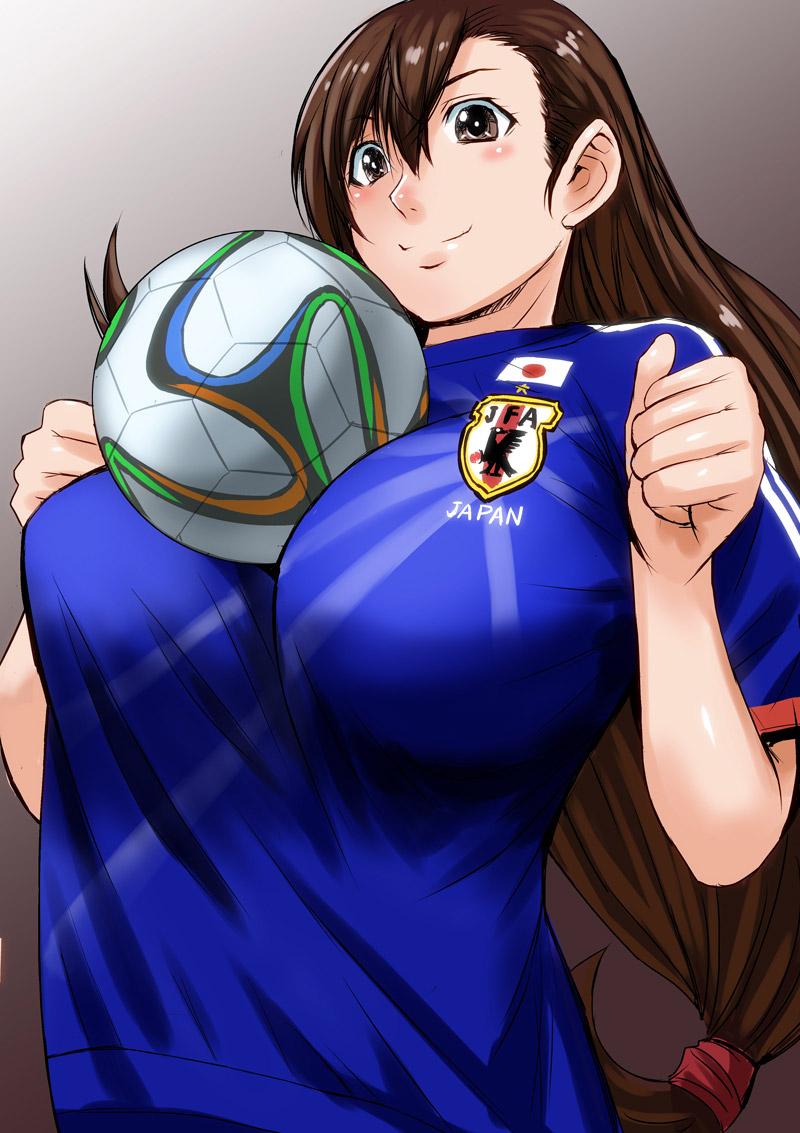 【サッカーエロ画像】日本代表を応援するリアル女子には苦笑いしちゃうけど二次元女子には興奮する! 36