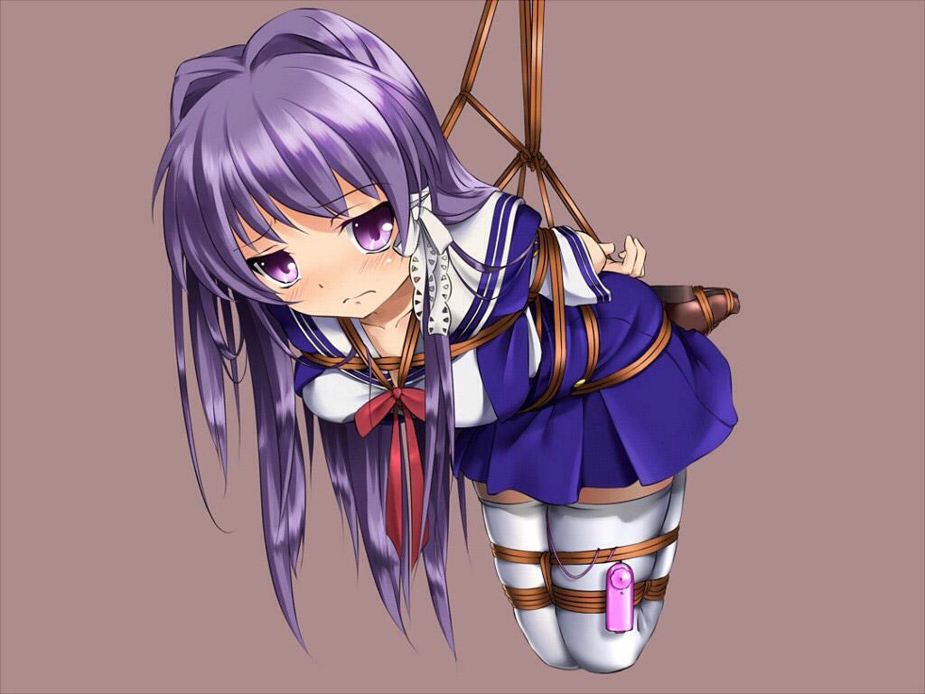 【緊縛エロ画像】どうしようもないほどガッチリと縛られた女の子の末路的なイラストまとめ! 09