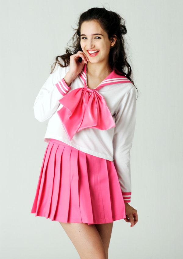 【外国人エロ画像】海外の女性が着るセーラー服のコスプレ感とエロさwww 36