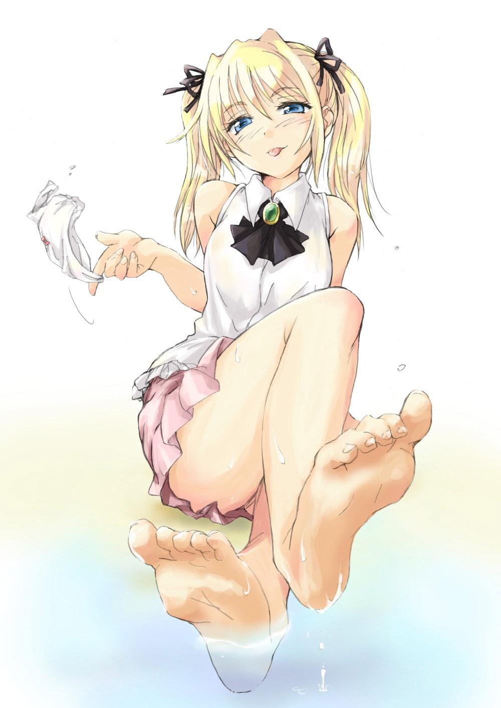 【足裏エロ画像】足の裏のイラストを見ていると足コキされたくなるんだがwww 11