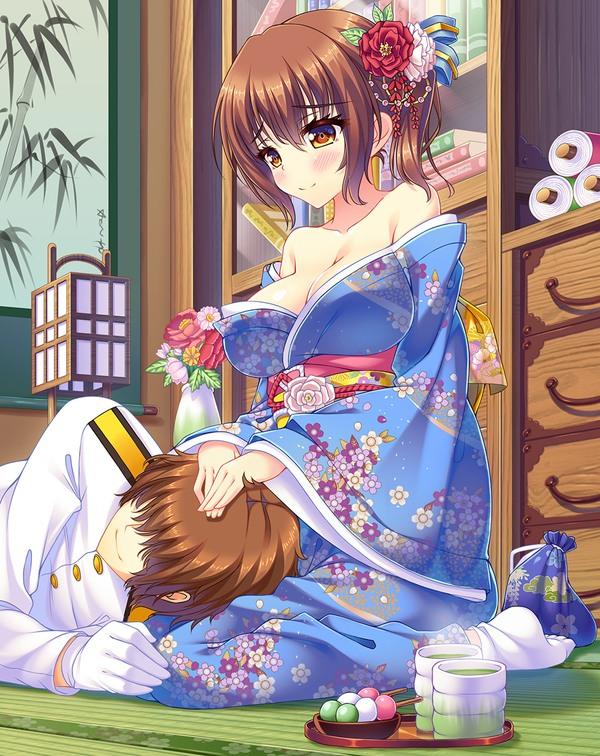【膝枕エロ画像】太ももの柔らかさ、頭ナデナデ、下乳の誘惑、この三点セットが膝枕です! 10
