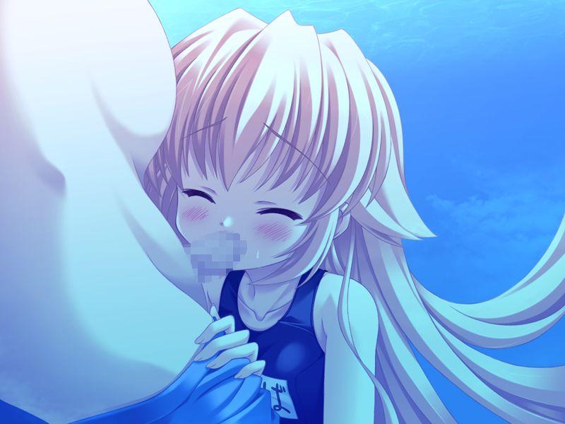 【水中エロ画像】プールや海でチャプチャプアンアンしている青姦セックスイラスト集! 32