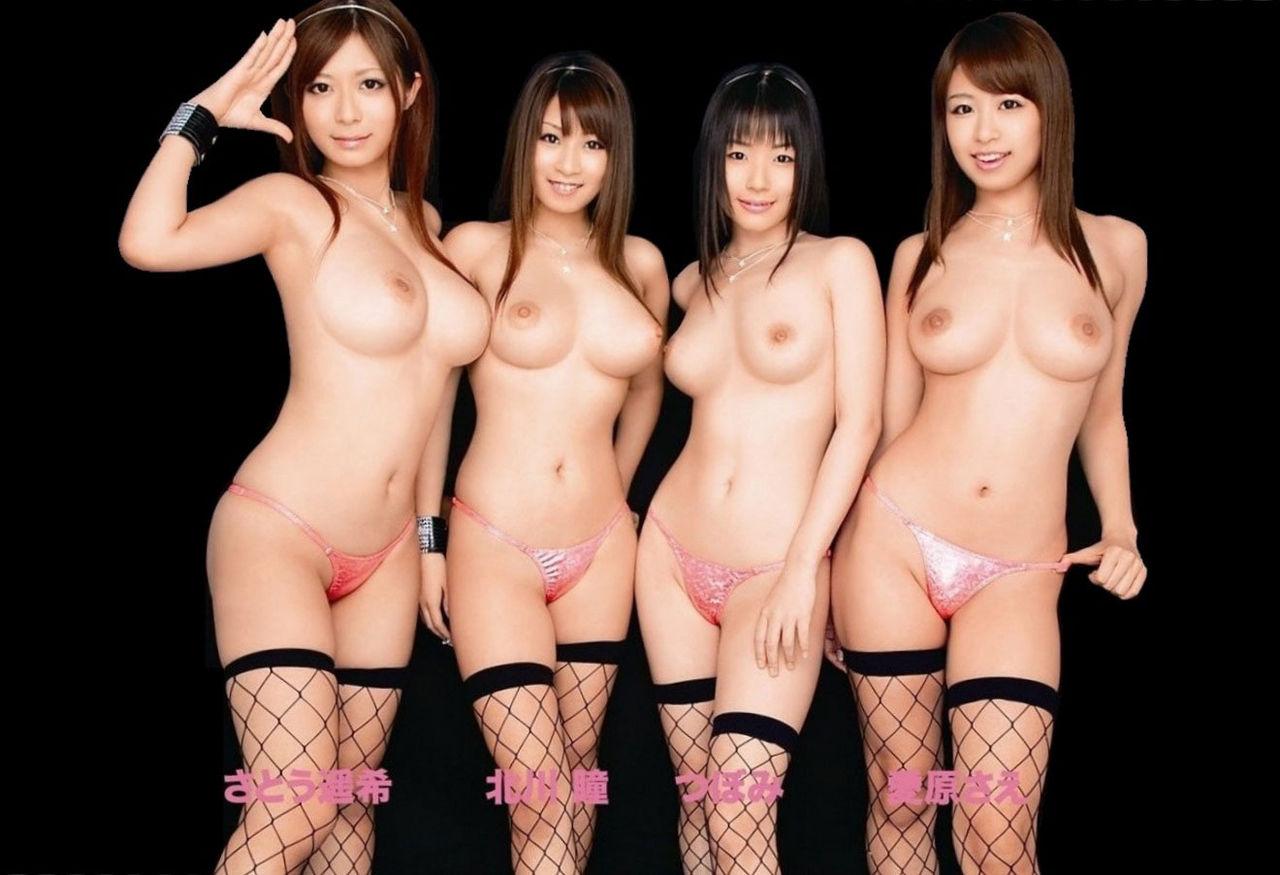 【複数ヌードエロ画像】全裸のお姉ちゃんが並んで立ってるだけで幸せになれるwww 07