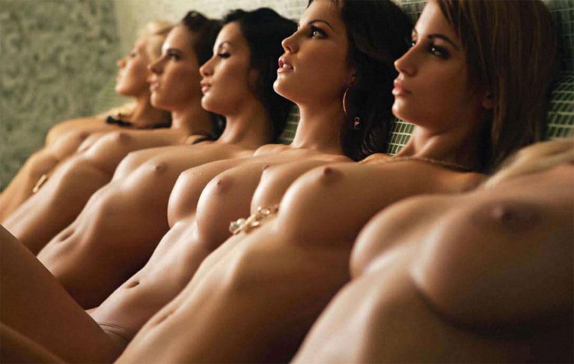 【複数ヌードエロ画像】全裸のお姉ちゃんが並んで立ってるだけで幸せになれるwww 22
