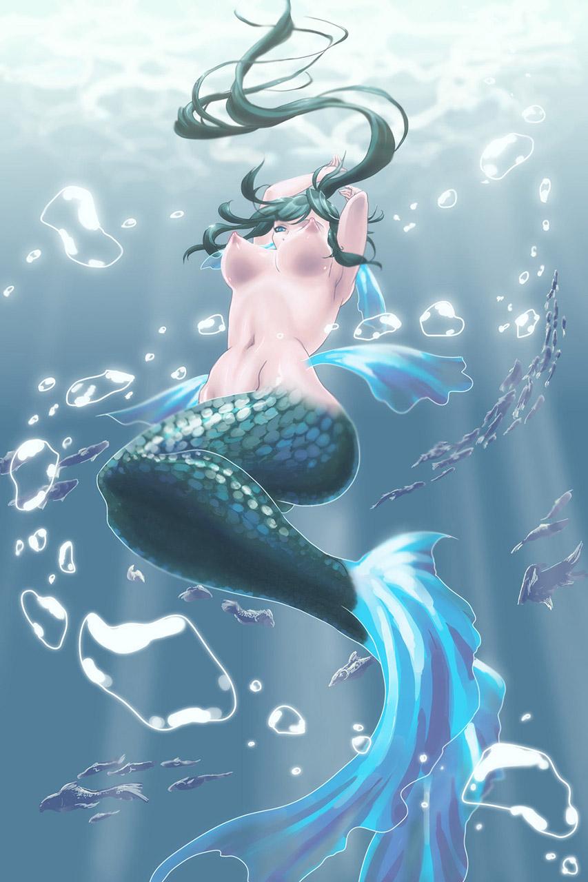 【人魚エロ画像】マーメイドとのセックスは色々と悩ましいけど美しいからオールOK!w 04