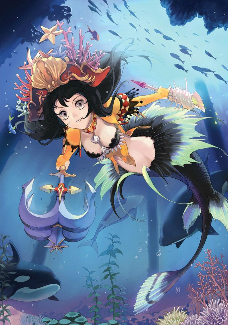 【人魚エロ画像】マーメイドとのセックスは色々と悩ましいけど美しいからオールOK!w 05