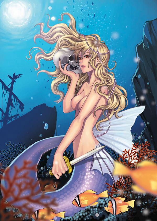 【人魚エロ画像】マーメイドとのセックスは色々と悩ましいけど美しいからオールOK!w 08