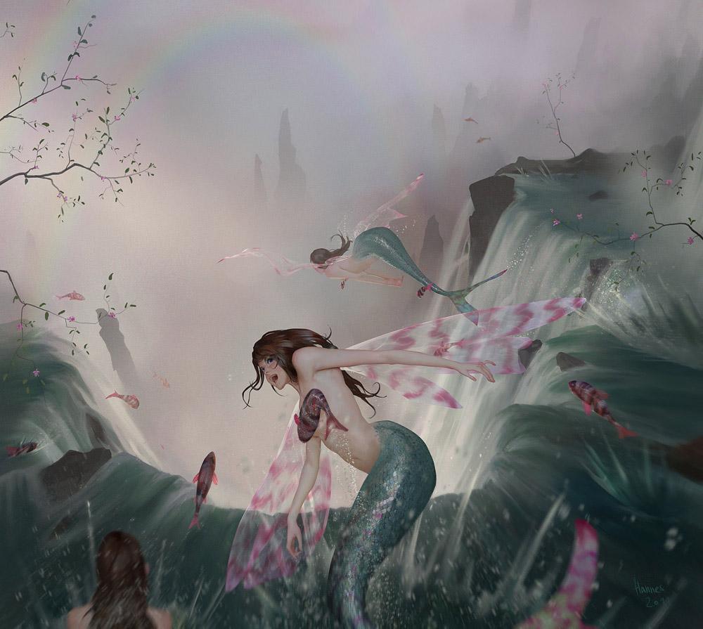 【人魚エロ画像】マーメイドとのセックスは色々と悩ましいけど美しいからオールOK!w 29