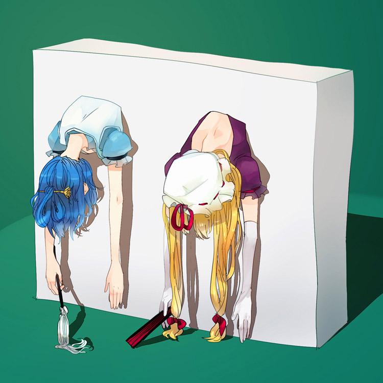 【壁尻エロ画像】エレベーターのアレよりも絶望的な壁を突き破って固定された女の子たちwww 06