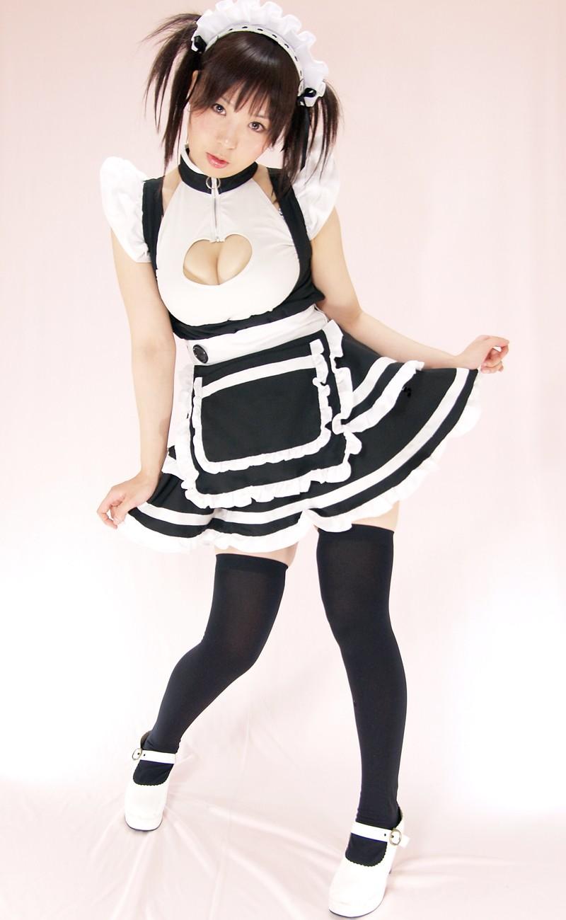 【メイドエロ画像】コスプレっぽいメイド服を見るとセックス用としか思えない件www 12