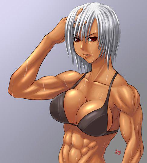 【筋肉エロ画像】マッスル系の女の子が性感に負けちゃう姿が見たいんです! 06