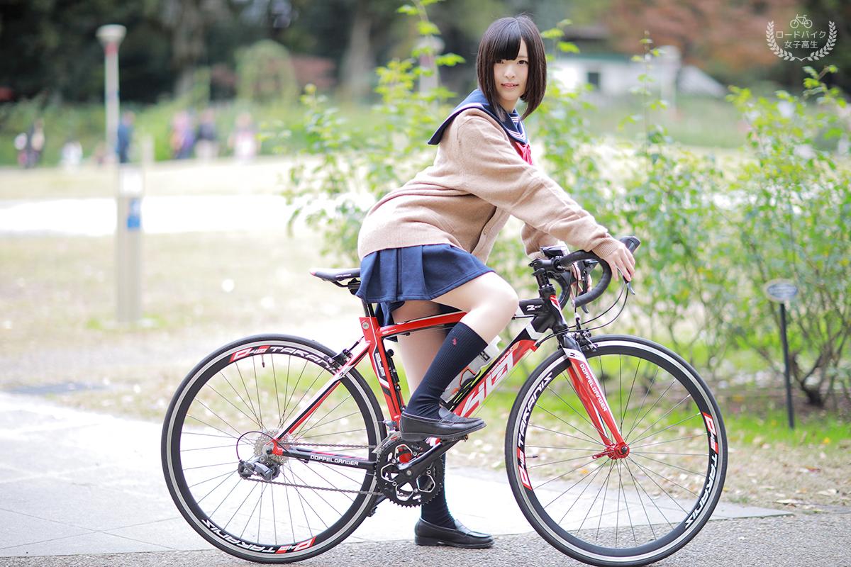 【自転車エロ画像】ただただ自転車に乗っている女の子が可愛いというだけの画像まとめ! 12